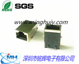 RJ45Jack SMT built - in megahertz transformer shield without environmental protection