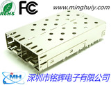 SFP socket - 1x2 without light - crimp type