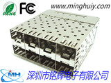 SFP socket -2X4 crimp type - without light guide