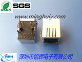 RJ45Jack - with light with a shrapnel - 1000BASE